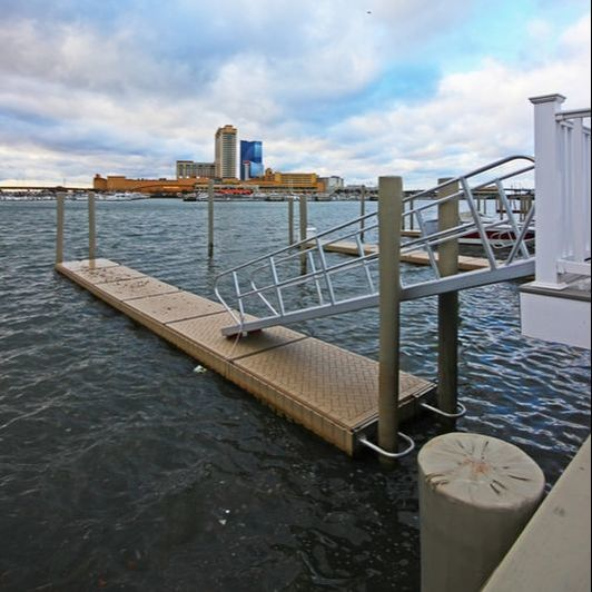 PolyDock Products in Atlantic City New Jersey, PolyDock Overlooking Harrahs Atlantic City, Dock Connection New Jersey